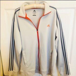 Adidas Clima lite 365 3 stripe zip up sweatshirt